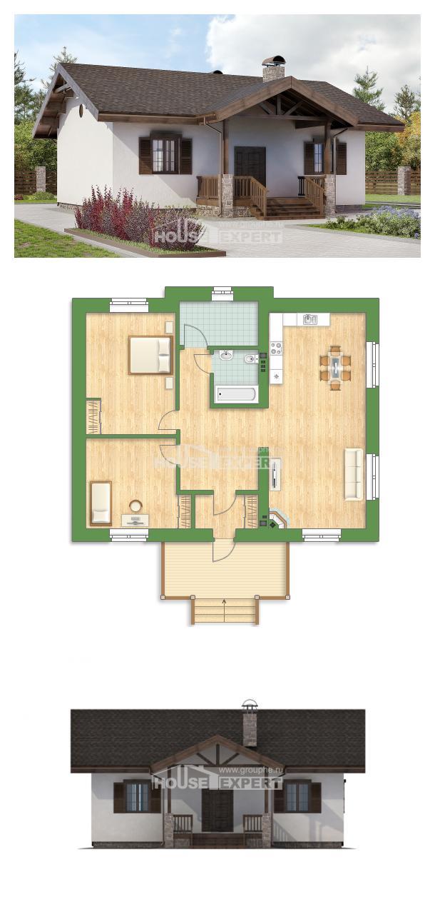 Проект дома 090-002-П | House Expert